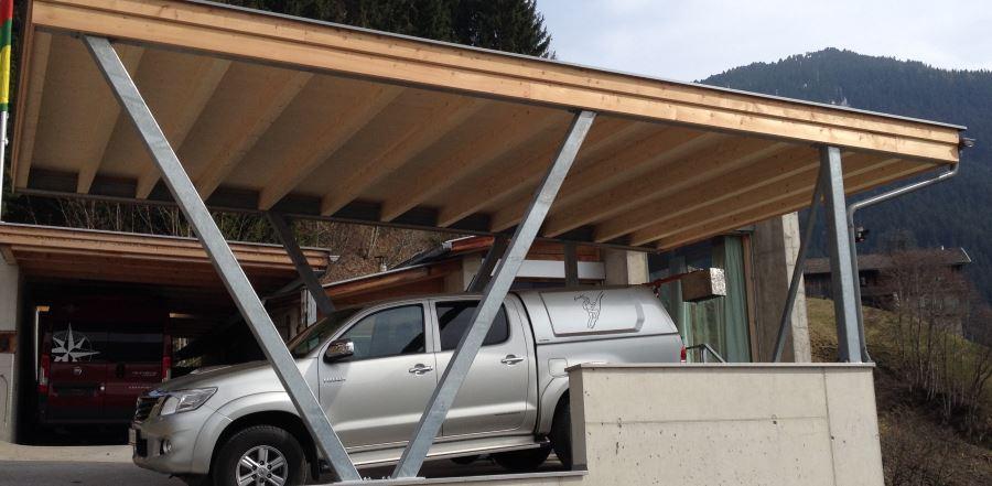 Holzhäuser - Carport - Bauen mit Holz - Holzbau Posch - Tirol,Volders 348